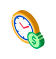 time is money isometric icon vector image vector image
