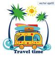 travel summer van vector image