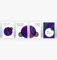 trendy brochure design template set rainbow abstr vector image vector image