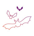vampires black flying icon vector image vector image