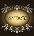vintage ornament greeting card retro luxury vector image