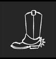 western movie chalk white icon on black vector image