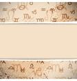 Zodiac Retro Background vector image