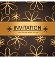 Art brown golden background invitation card vector image