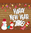 happy new year 2018 christmas background with vector image