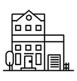 apartment building line icon sign vector image