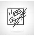 Insurance occasions line icon vector image