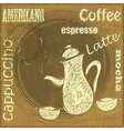 Vintage Stand for Coffee vector image