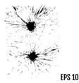 abstract black ink blot background grunge vector image
