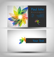 abstract business-card front and back vector image vector image