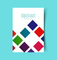 abstract report cover vector image vector image