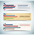 abstract retro banners set vector image