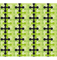 Abstract seamless pattern with rounded crosses vector image vector image