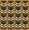 art deco style geometric seamless pattern in black vector image