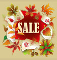 Banner for autumn sale with colorful seasonal fall