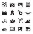 basic drone icons vector image vector image
