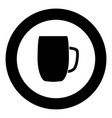 beer mug icon black color in circle vector image vector image