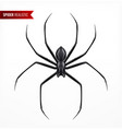 black spider realistic composition vector image vector image