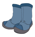 Boys boots on white background vector image
