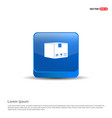 cardboard boxes icon - 3d blue button vector image