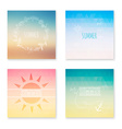 cards collection summer colored abstract vector image