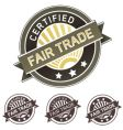 Certified fair trade label vector | Price: 1 Credit (USD $1)