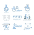 Chemical Laboratory Facility Logo Graphic Design vector image vector image
