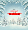 christmas holiday winter landscape background vector image