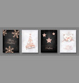 collection elegant merry christmas cards vector image vector image