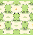 cute frog seamless pattern background vector image vector image