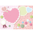 Cute Love Heart Background vector image