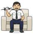 dad pilot character children book vector image vector image