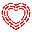 dashed line heart icon simple style vector image vector image