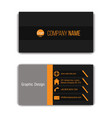 design business card template vector image vector image