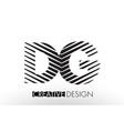 dg d g lines letter design with creative elegant vector image vector image