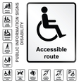 Disability Information Signs vector image vector image