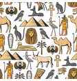 egyptian symbols seamless pattern vector image vector image