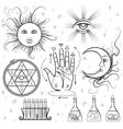 Esoteric signs symbols vector image vector image