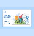 express food delivery bike vector image