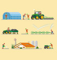 farming elements collection vector image