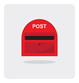 flat icon red mail box vector image