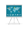 Flip chart business concept vector image