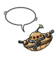 flying saucer 100 vector image
