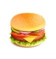 Hamburger Realistic Isolated vector image vector image
