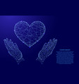 heart sign symbol love and two holding vector image vector image