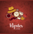 hipster doodle icons background vector image