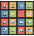 Interaction icons set vector image vector image