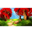magic cartoon landscape vector image