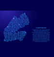 map djibouti from printed board chip and radio vector image vector image