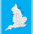 map merseyside north west england united kingdom vector image